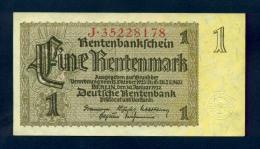Banconota Germania 1 Rentenmark  30/1/1937 FDS - To Identify