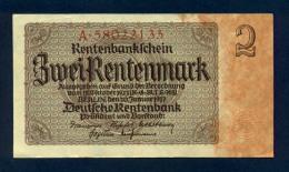Banconota Germania 2 Rentenmark  30/1/1937 - To Identify
