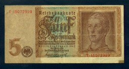 Banconota Germania 5 Mark  1942 BB - Germany