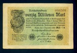Banconota Germania 20.000.000 Mark  1/9/1923 FDS - To Identify