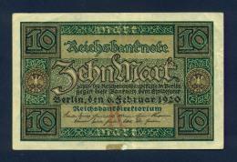 Banconota Germania 10 Mark  1920 SPL - To Identify