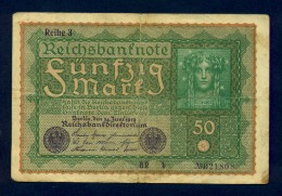Banconota Germania 50 Mark  24/6/1919 BB - To Identify