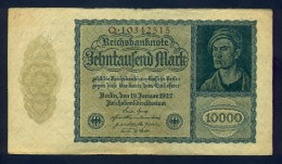 Banconota Germania 10.000 Mark  Berlino 1922 - To Identify