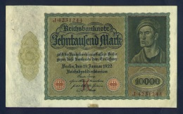 Banconota Germania 10.000 Mark 19/1/1922 - Allemagne