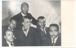 STARLING HATCHETT - AMELIA GOODMAN - MATTHEW KENNEDY - AND THREE MORE FAMOSUS TO IDENTIFY - TO EXPERTS OF BLACK MUSIC - Handtekening