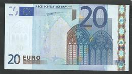 "Greece  ""Y""  20  EURO GEM UNC! Duinseberg Signature! Printer N001A1 GEM UNC! - EURO"