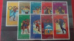JO SAPPORO 72 - Corée Du Nord 1978 N°1441A à N°1441F + 3 TP N°?? - Oblitérés
