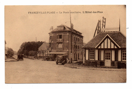 14 FRANCEVILLE La Poste Auxiliaire L'hotel Des Pins Voitures - France