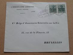 5 Deutsches Reich - Belgien 5 Centimes ( Liège / Bruxelles ) ( Lüttich ) (omslag / Enveloppe - Zie Foto's) - Military (M Stamps)