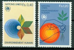 BM UNO Genf 1982   MiNr 105-106   MNH   10. Jahrestag Der Konferenz über Umweltschutz, Stockholm - Ginevra - Ufficio Delle Nazioni Unite