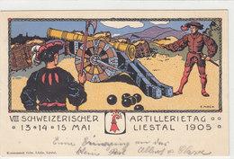 Liestal - Schweiz.Artillerietag - 14.5.1905 - Sign. F.Mock   (P19-10114) - BL Basle-Country