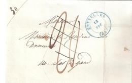 LETTRE DE BRUXELLES 13 NOVEMBRE 1843 POUR SAS DE GAND (PAYS-BAS) - 1830-1849 (Belgique Indépendante)