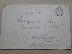 FRANKFURT 11-7-16 General Kommando Des Konigl. Preuss. XVIII Armee-Korps (Maubeuge) (omslag / Enveloppe - Zie Foto's) - Other