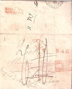 LETTRE DE LIEGE LE 15 MARS 1838 POUR RESCHVOOG (BAS-RHIN) BELGIQUE PAR THIONVILLE ALLEMAGNE PAR HERVE - 1830-1849 (Belgique Indépendante)