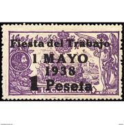 ES762STV-LTV***762STFISC.Spain.Esgane .Escritor.El Quijote.FIESTA DEL TRABAJO .1936(Ed 762**) - Fiestas