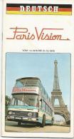 Carnet Touristique De Paris Vision En Allemand De 1976 - Autres