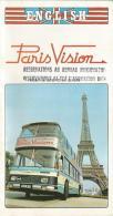 Carnet Touristique De Paris Vision En Anglais De 1976 - Livres, BD, Revues