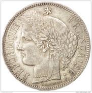 France, Cérès, 5 Francs, 1870, Bordeaux, TTB, Argent, - 1789 – 1795 Monedas Constitucionales
