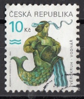 3064 Ceca 1998 Segni Zodiaco Zodiac Acquario Viaggiato Used Republica Ceska - Astrologia