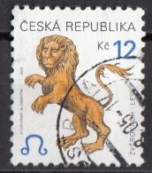 3072 Ceca 2001 Segni Zodiaco Zodiac Leone Viaggiato Used Republica Ceska - Astrologia