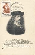 D28750 CARTE MAXIMUM CARD 1957 FRANCE - REMBRANDT PORTRAIT PAINTER CP ORIGINAL