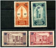 Maroc (1930) N 124 à 127 * (charniere) - Neufs