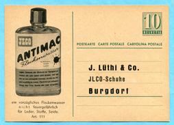 Postkarte Mit Privatem Zudruck Jlco - Fleckenwasser Für Leder, Stoffe, Seide - Entiers Postaux