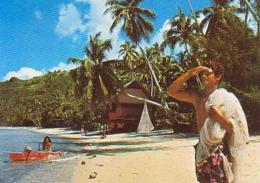 Tahiti         H23         Une Plage En Polynésie - Polynésie Française