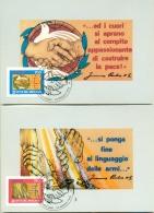 CM-Carte Maximum Card #1995-Vatican # Europa - Europa-Cept # Pace E Libertà # Peace And Liberty  # 2 MC - Maximum Cards
