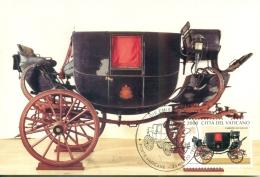 CM-Carte Maximum Card # 1997-Vatican # Caroche,coach,Karosse,carrosse , Carrozza Da Viaggo Di Ferdinando II - Cartes-Maximum (CM)