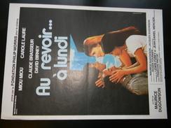 Affichette Cinema Au Revoir à Lundi Avec Miou Miou Et Claude Brasseur 55 X 40 Cm - Plakate & Poster
