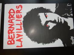 Affichette Bernard Lavilliers 58 X 37 Cm - Manifesti & Poster