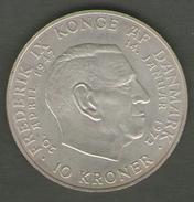 DANIMARCA 10 KRONER 1972 AG SILVER - Dänemark