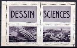 BLOC DESSIN- SCIENCES - NIEVRE; GARCHIZY / BARRAGE PANNECIERE - Erinnophilie