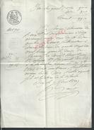 LETTRE ACTE REÇU DE OISY 1847 : - Manoscritti