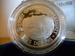 COOK ISLANDS 25 $ DOLLARS 1988 SILVER PROOF CENTENARY 1888-1988 - Cook