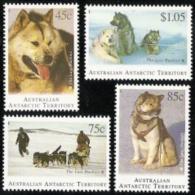 Australia Antartic Terr,  Scott 2017 # L90-L93,  Issued 1994,  Set Of 4,  MNH,  Cat $ 8.15,  Dogs - Territoire Antarctique Australien (AAT)