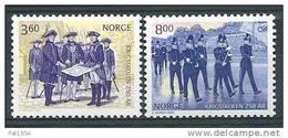 Norvège 2000 N°1304/1305 Neufs** Académie Militaire - Unused Stamps