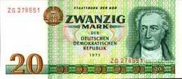 ALLEMAGNE République Démocratique 20 MARK De 1975 Pick 29a  UNC/NEUF - [ 6] 1949-1990 : GDR - German Dem. Rep.