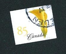 N° 2116 Arum D'Éthiopie Jaune TIMBRE Canada (2004) Oblitéré