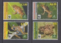 Papua New Guinea 2009 Frogs, WWF MNH