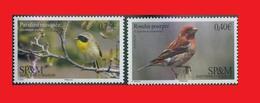 SPM 2016- 2017, Purple Finch & Common Yellowthroat  Birds / Oiseaux Fauvette Masquée & Roselin Pourpré  MNH ** - Passereaux