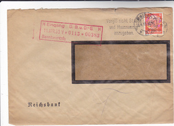 1934 GERMANY Stamps COVER WEISSEN  SLOGAN Pmk DON'T FORGET TO SPECIFY  HOUSE NUMBER - Germany