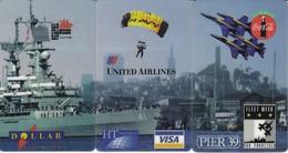 PUZZLE DE 3 TARJETAS DE ESTADOS UNIDOS DE COCA-COLA (NUEVAS) VISA  (COKE) - Publicidad