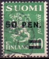 Finland 1931 Opdruk 50 Op 40pen Type I GB-USED