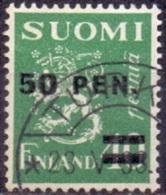 Finland 1931 Opdruk 50 Op 40pen Type II GB-USED
