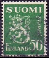 Finland 1932 50pen Leeuw Groen GB-USED