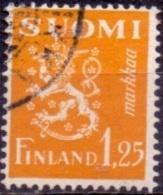 Finland 1932 1.25mk Leeuw Geel GB-USED
