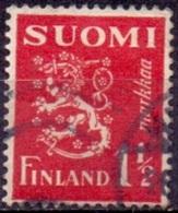 Finland 1932 1.50mk Leeuw Rood GB-USED