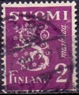 Finland 1932 2mk Leeuw Violet GB-USED